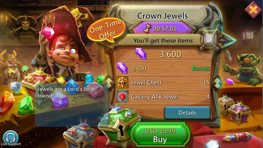 Lords Mobile Jewel Pack