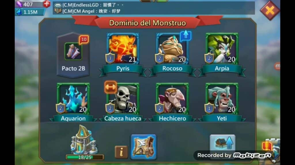 Lords Mobile Mejores Monstruitos
