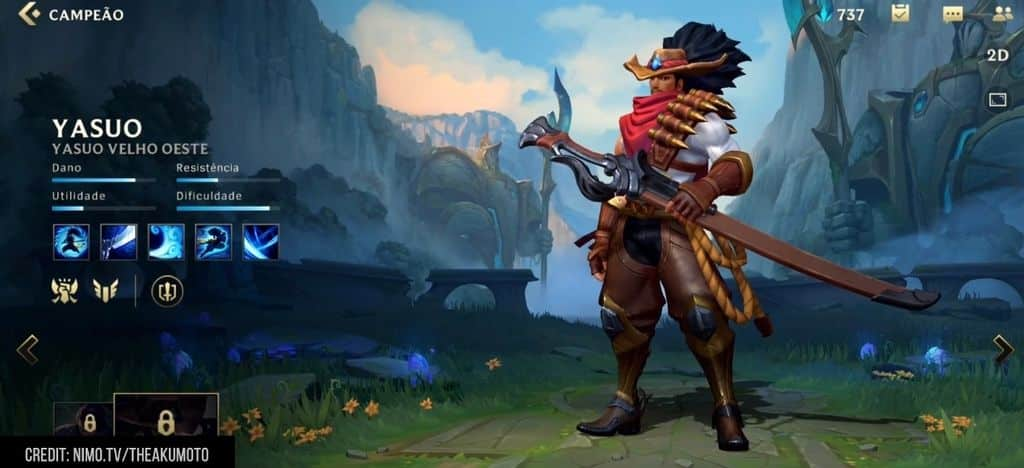 Como usar a Yasuo de league of legends wild rift